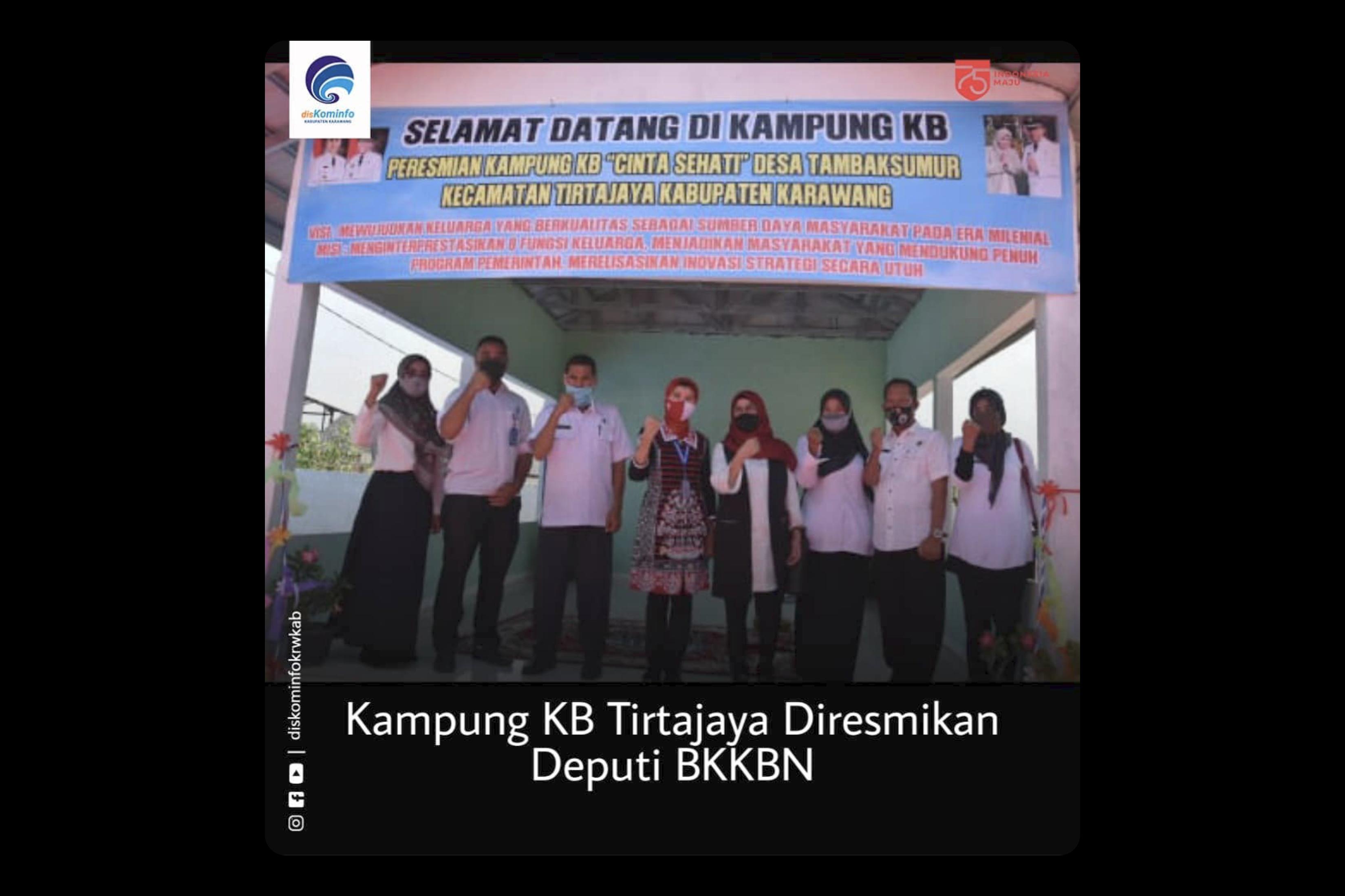 Kampung Kb Tirtajaya Diresmikan Deputi Bkkbn Situs Resmi Pemerintah Daerah Kabupaten Karawang