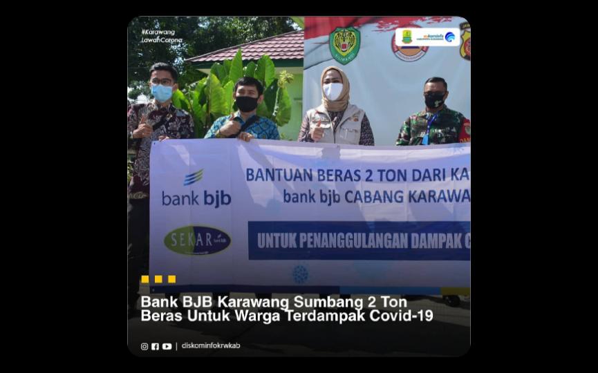 Bank BJB Karawang Sumbang 2 Ton Beras Untuk Warga ...