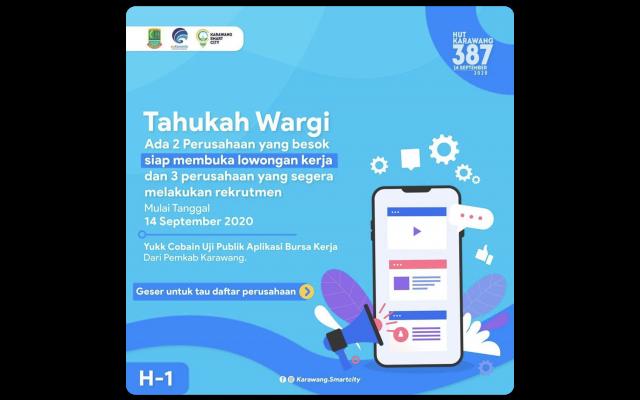 Ratusan Loker Tersedia Saat Peluncuran Aplikasi Infoloker Pemkab Karawang Situs Resmi Pemerintah Daerah Kabupaten Karawang